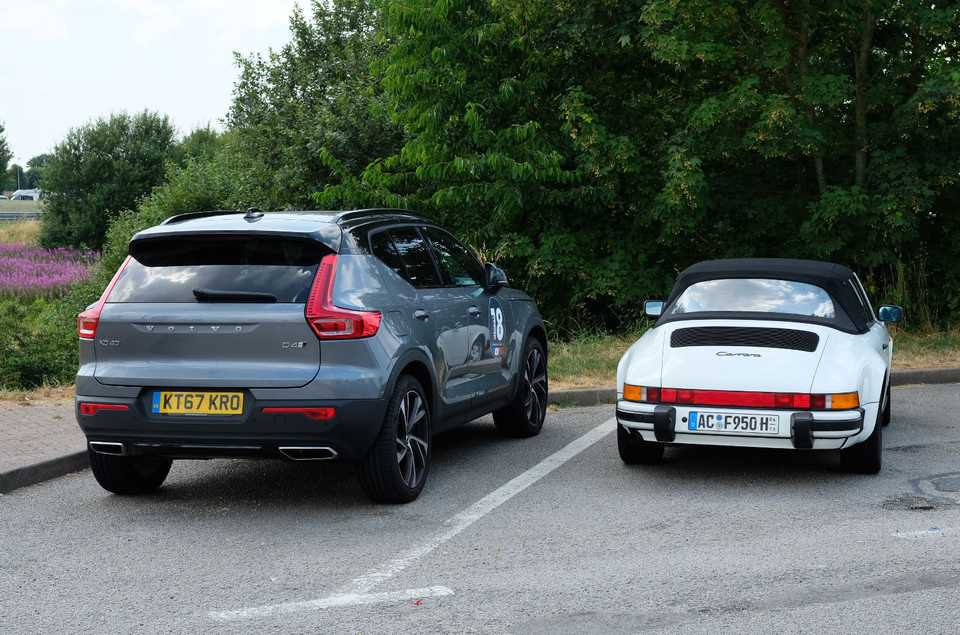 Long-term Volvo XC40 with classic Porsche 911