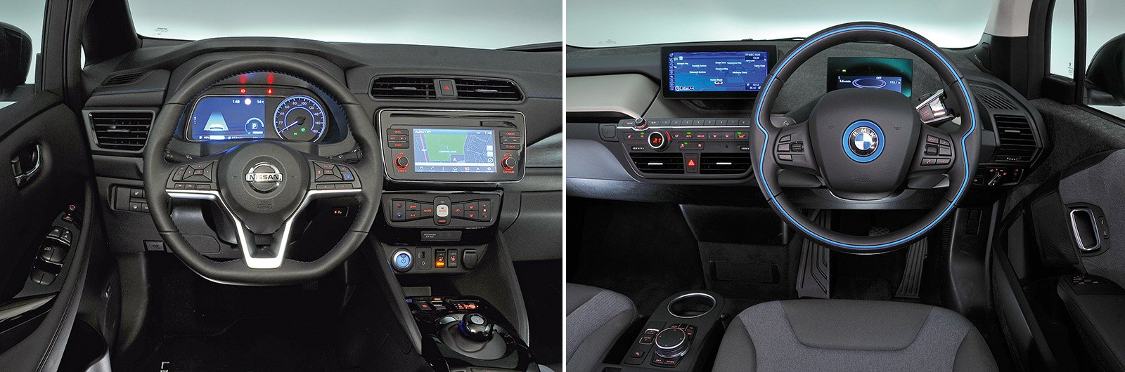 Nissan Leaf vs BMW i3 interior