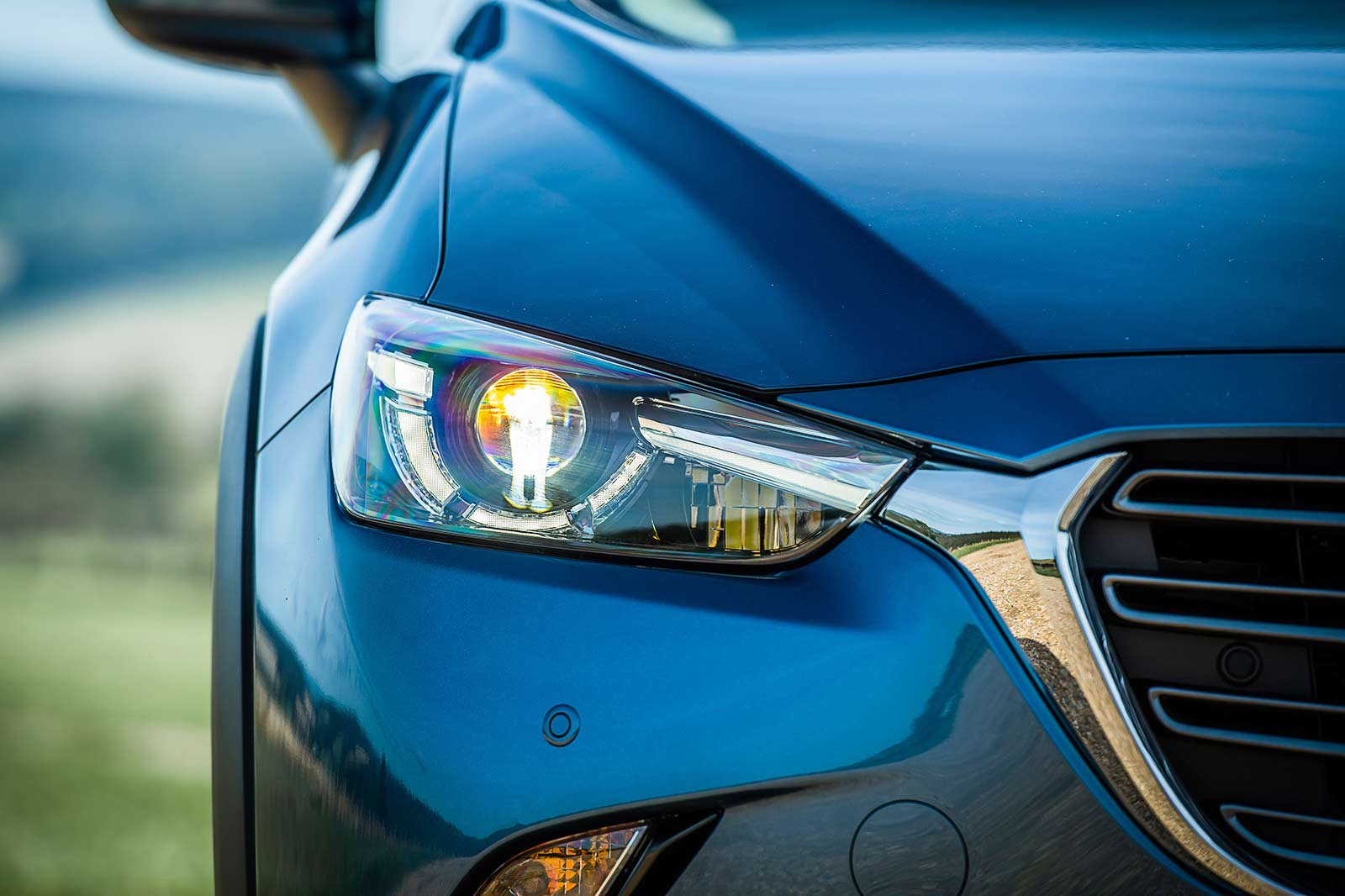Mazda CX-3 headlight shot