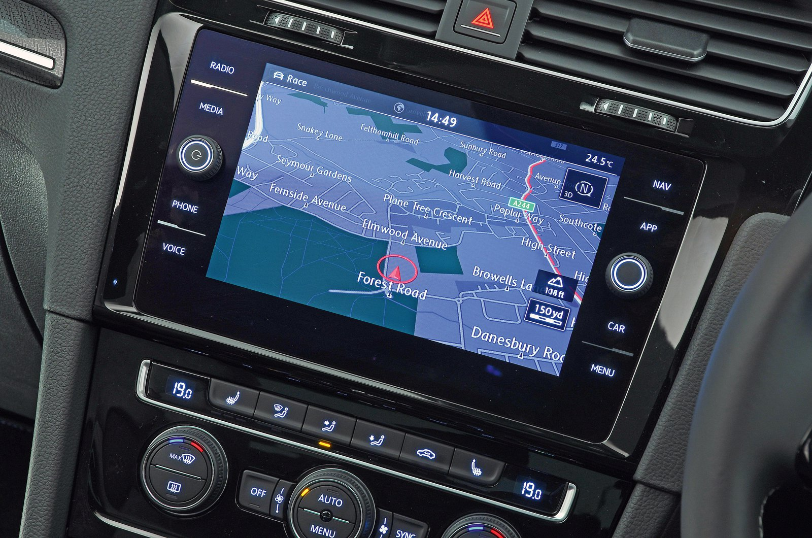 Volkswagen Golf R touchscreen