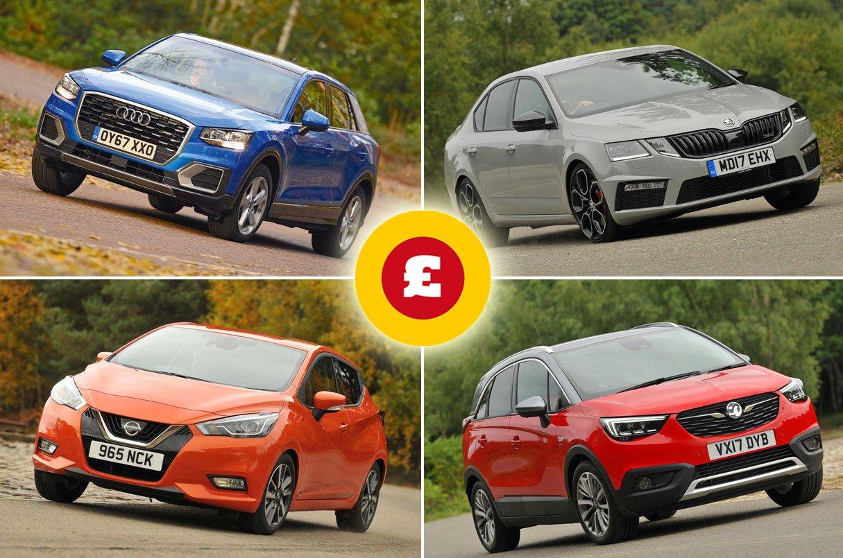 Audi Q2, Skoda Octavia, Nissan Micra, Vauxhall Crossland X