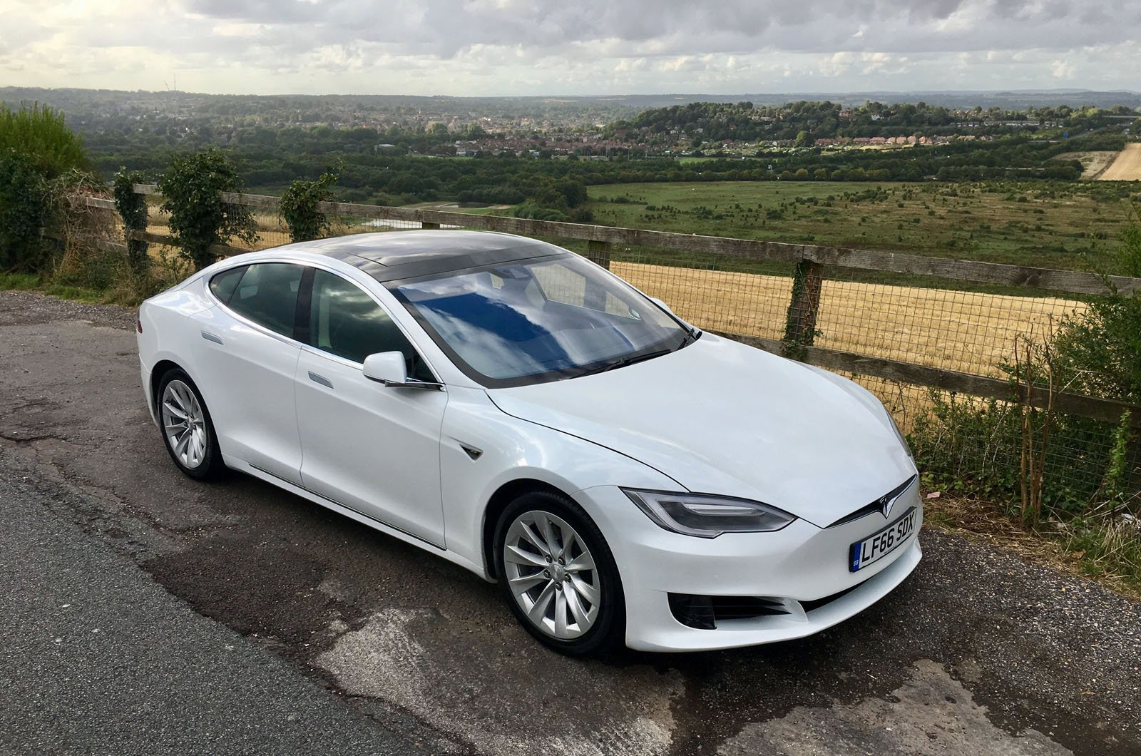 Used Tesla Model S long-termer near Winchester, Hampshire