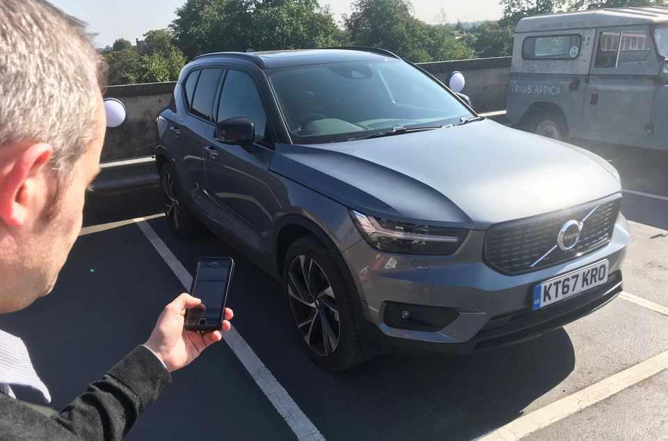 Long-term Volvo XC40 app