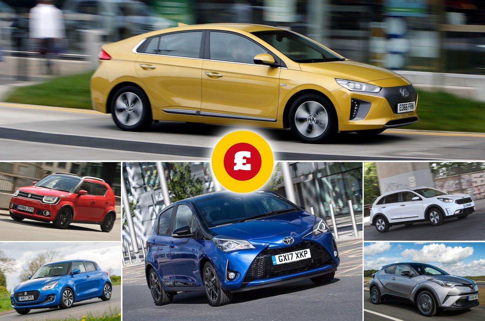 Best hybrid cars for less than £300 per month