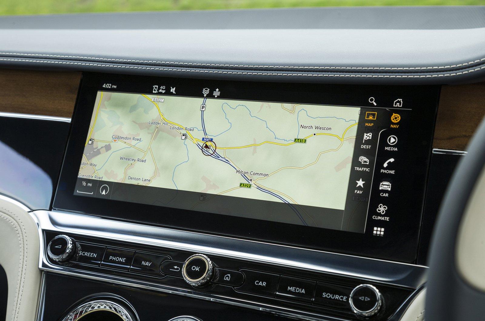 Bentley Continental GT touchscreen
