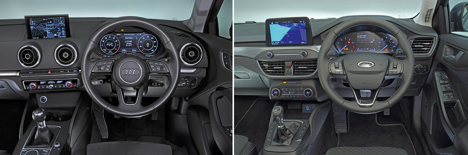 New Ford Focus vs used Audi A3 interior