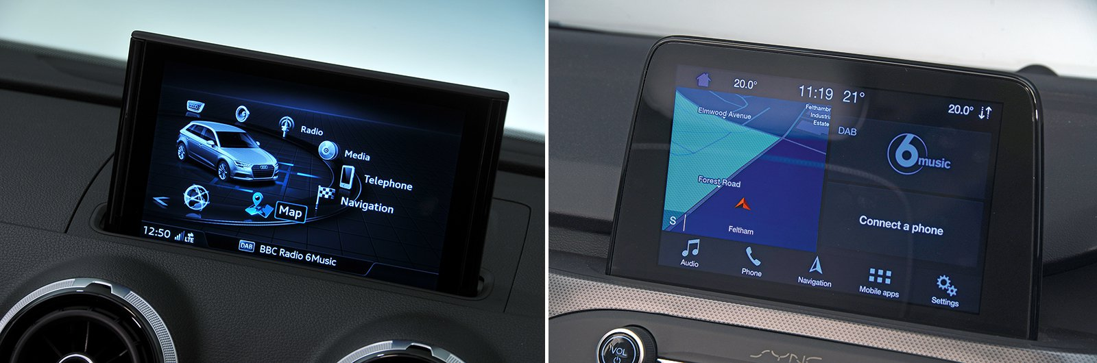 New Ford Focus vs used Audi A3 infotainment