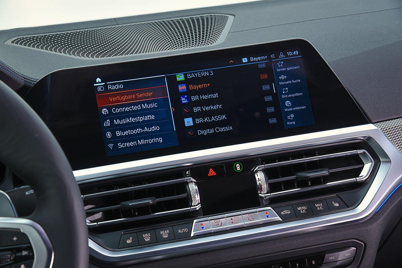 BMW 3 Series infotainment