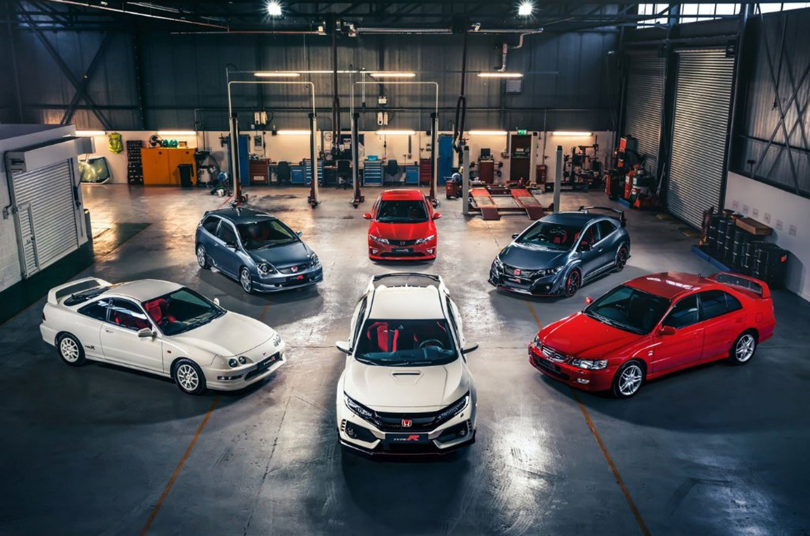 Honda Civic Type R and ancestors