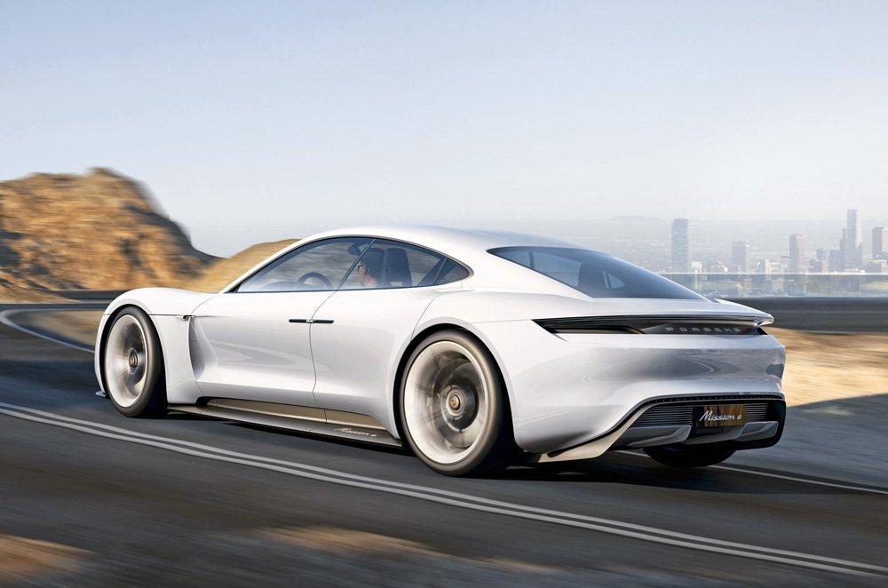 Porsche Mission E concept rear