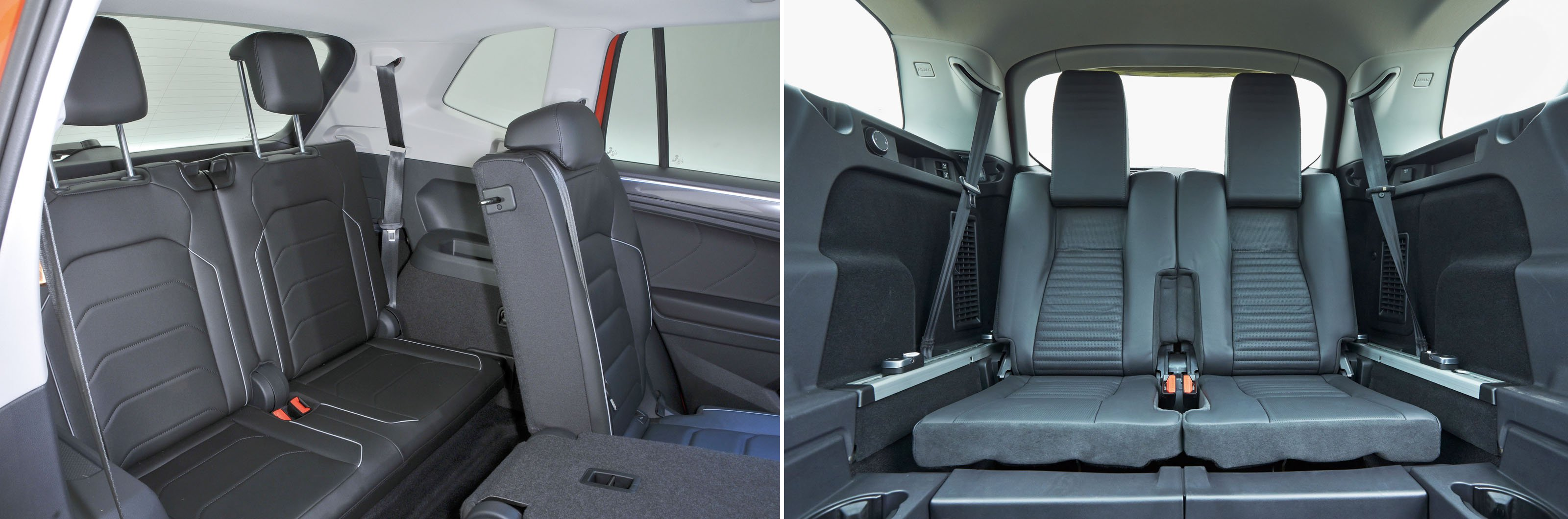 VW Tiguan Allspace vs Land Rover Discovery Sport rear seats