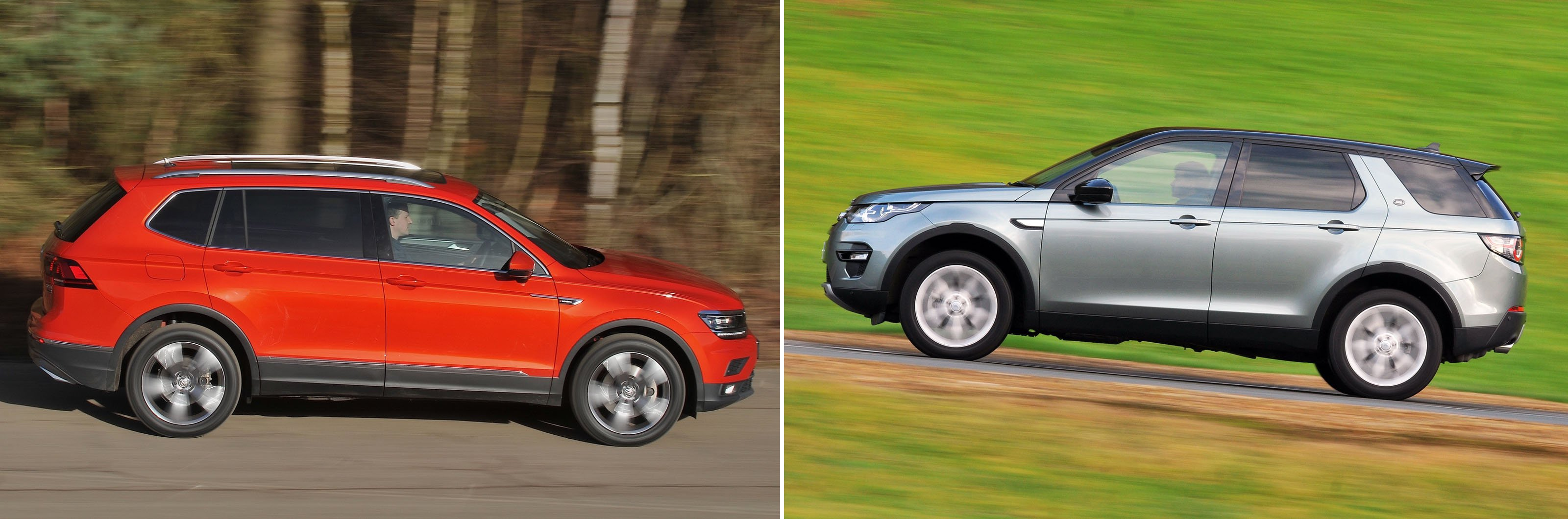 VW Tiguan Allspace vs Land Rover Discovery Sport