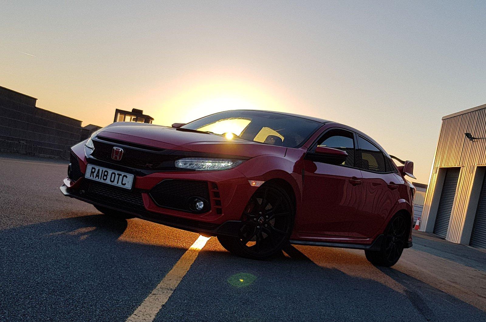 Honda Civic Type R long-termer at Anglesea track front