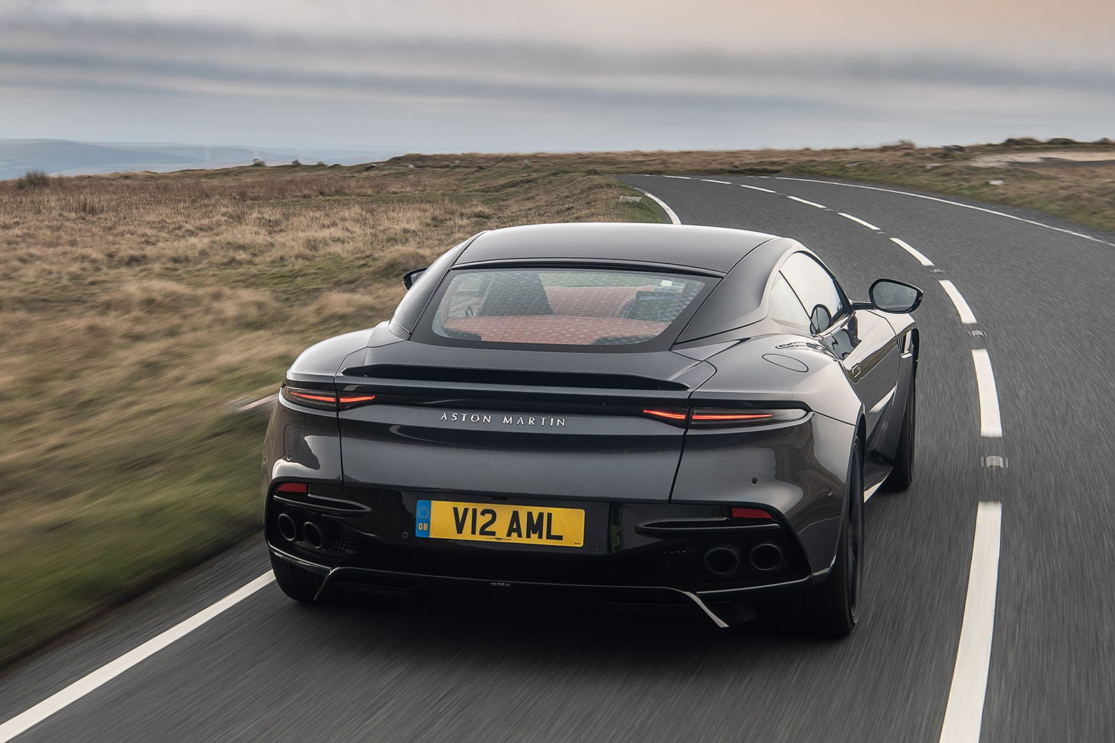 Aston Martin DBS Superleggera rear driving