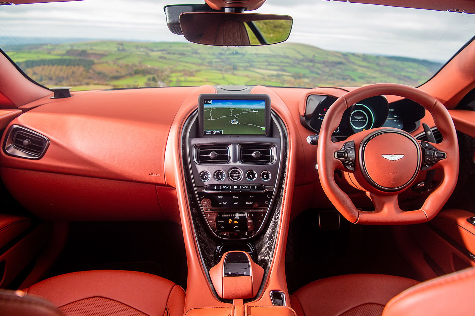 Aston Martin DBS Superleggera dashboard