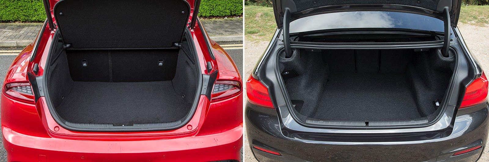 New Kia Stinger vs used BMW 5 Series – space & practicality