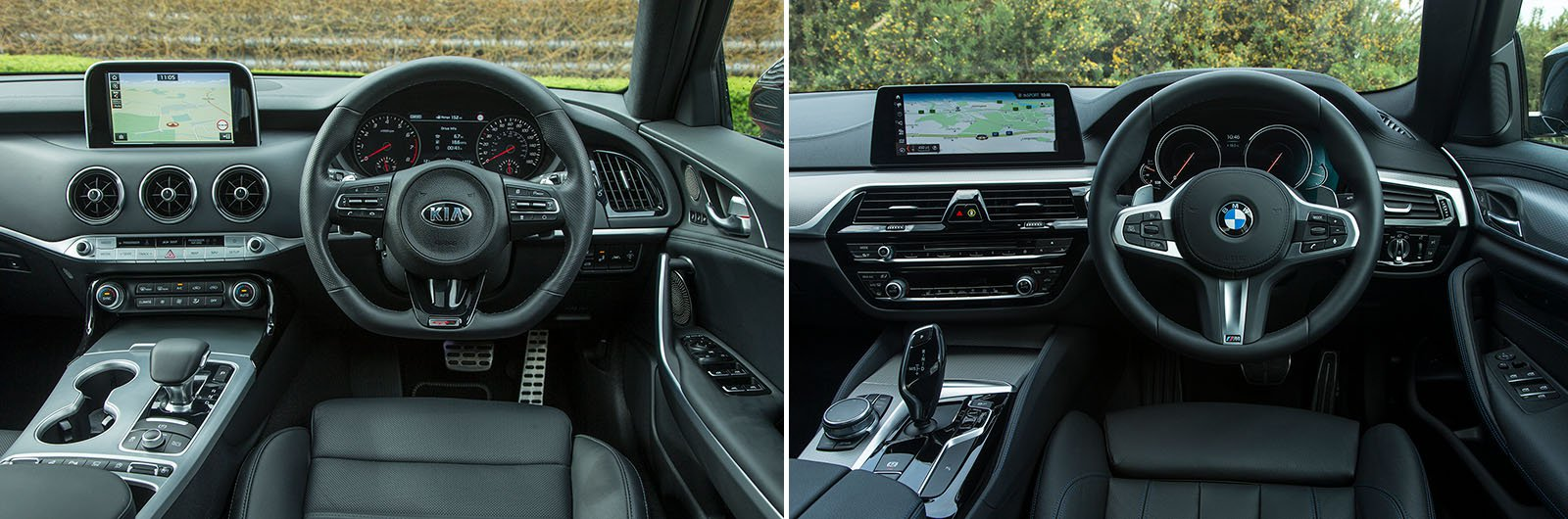 New Kia Stinger vs used BMW 5 Series – interior & equipment