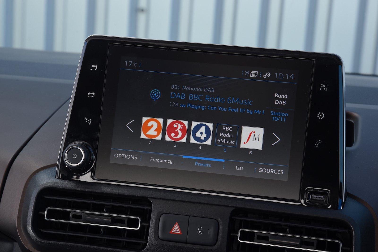 2018 Peugeot Rifter infotainment