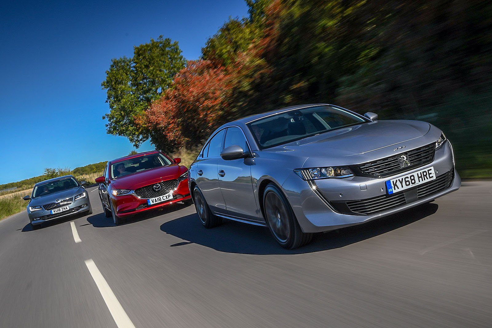 New Mazda 6 & Peugeot 508 vs Skoda Superb