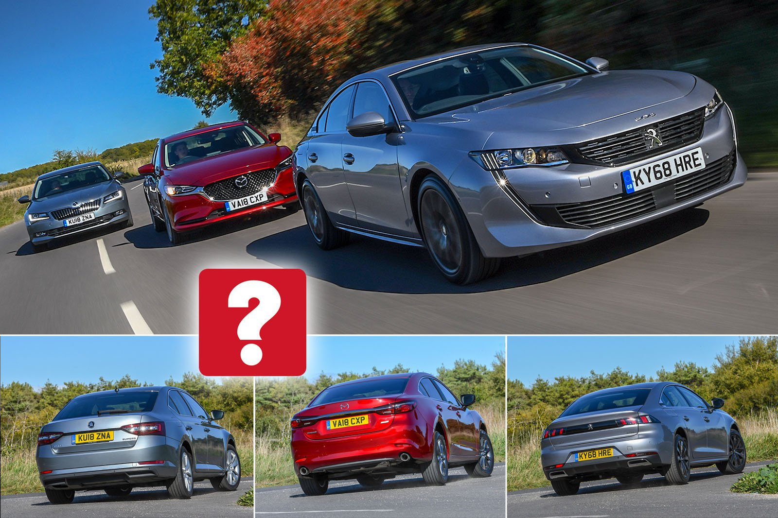 New Peugeot 508 vs Mazda 6 vs Skoda Superb