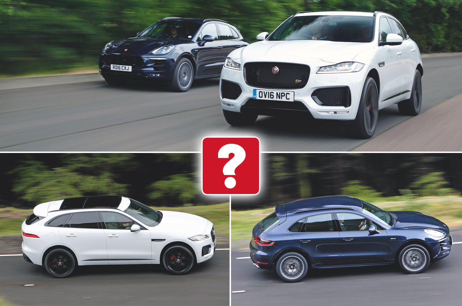 Used test: Jaguar F-Pace vs Porsche Macan