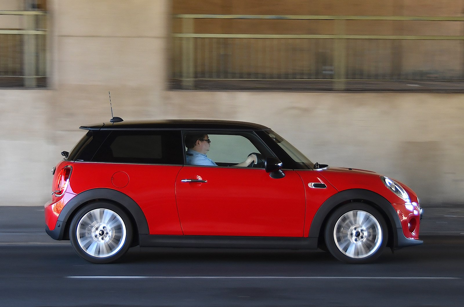 Mini hatchback side