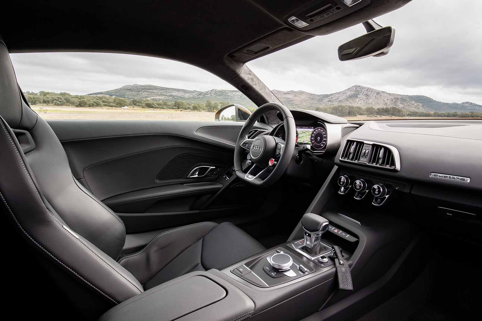 Audi R8 interior driving position