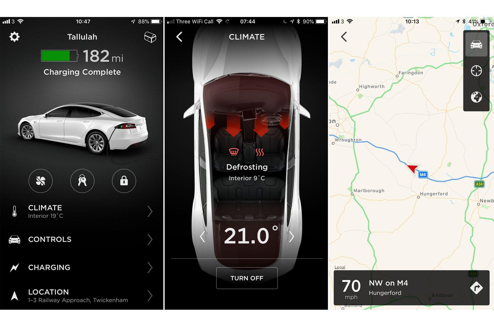Tesla Model S apps