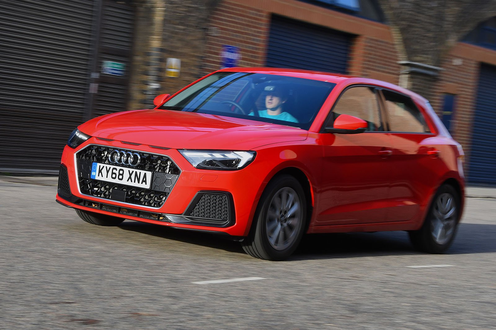 Audi A1 Sportback front three-quarters driving 2