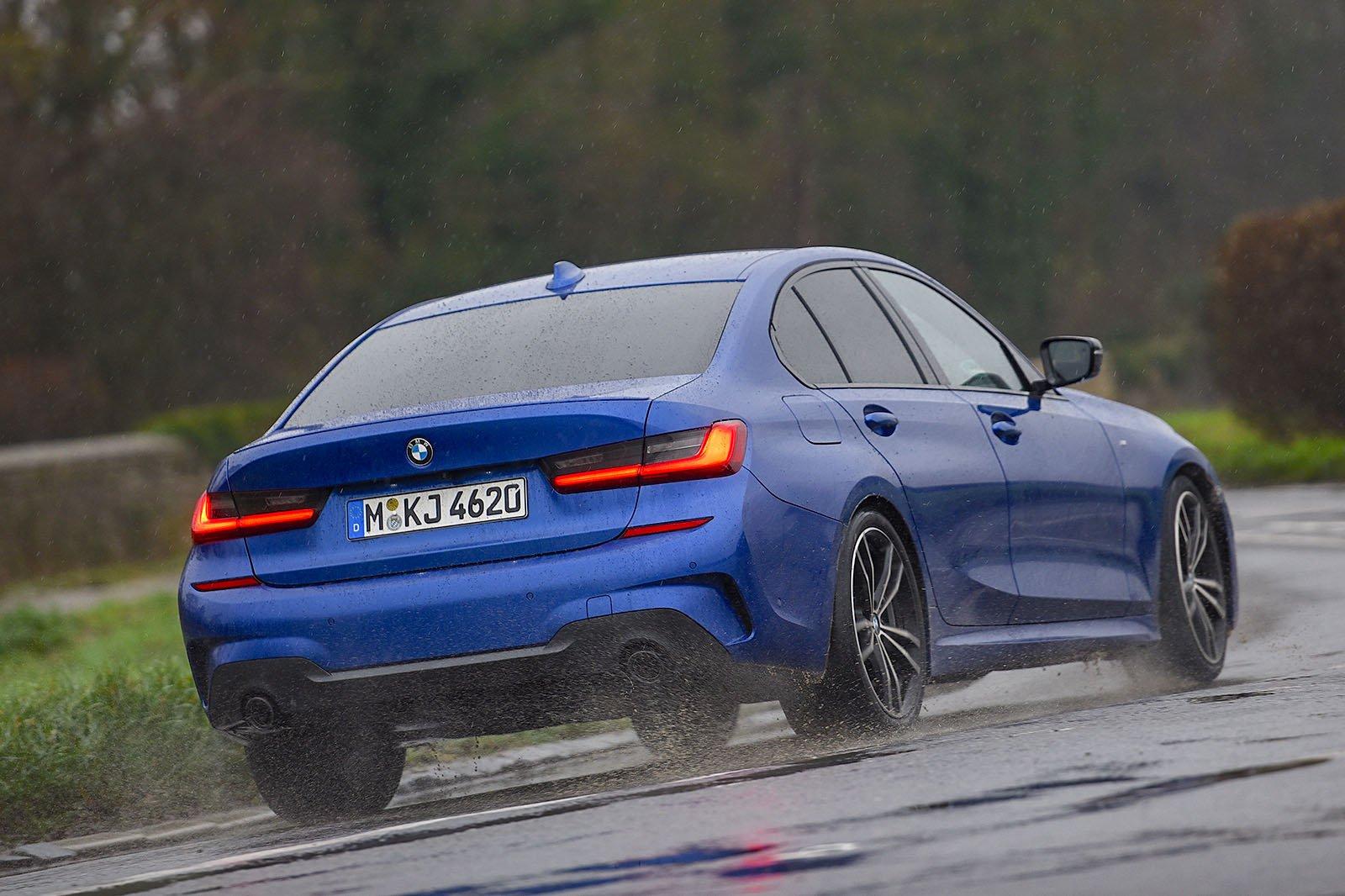 BMW 3 Series rear three quarter driving