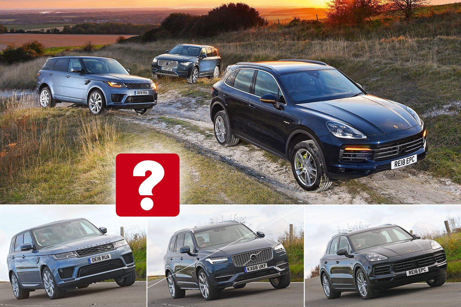 New Porsche Cayenne Range Rover Sport Vs Volvo Xc90 Hybrids