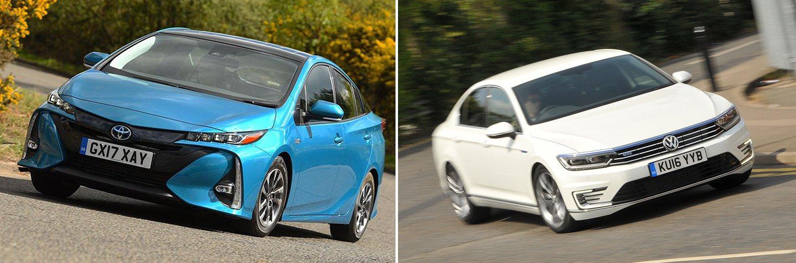 New Toyota Prius Plug-in hybrid vs used Volkswagen Passat GTE