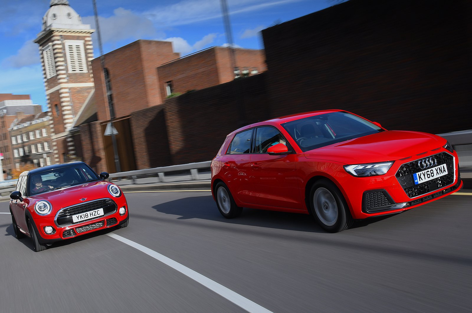 Audi A1 and Mini hatchback