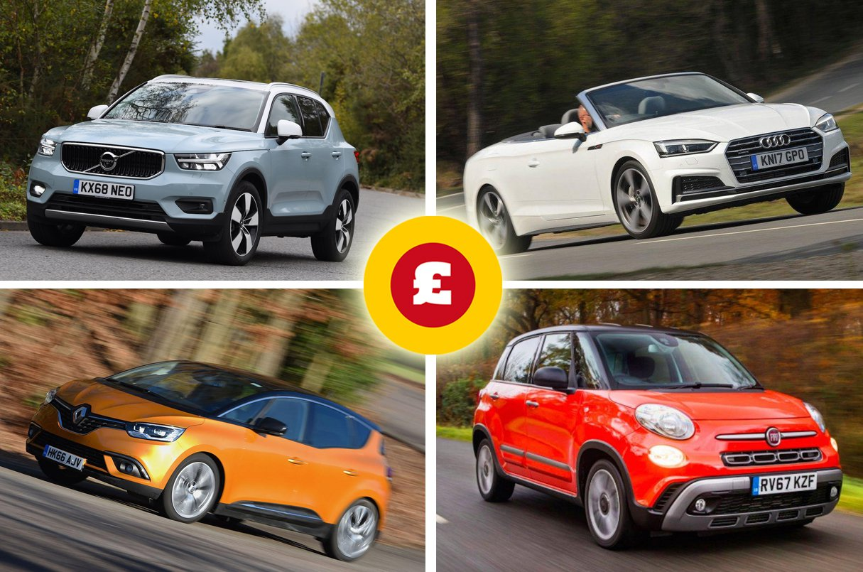 Volvo XC40, Renault Scenic, Audi A5 Cabriolet, Fiat 500L
