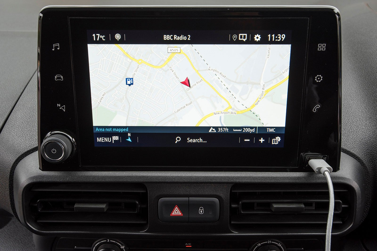 Vauxhall Combo Cargo infotainment screen