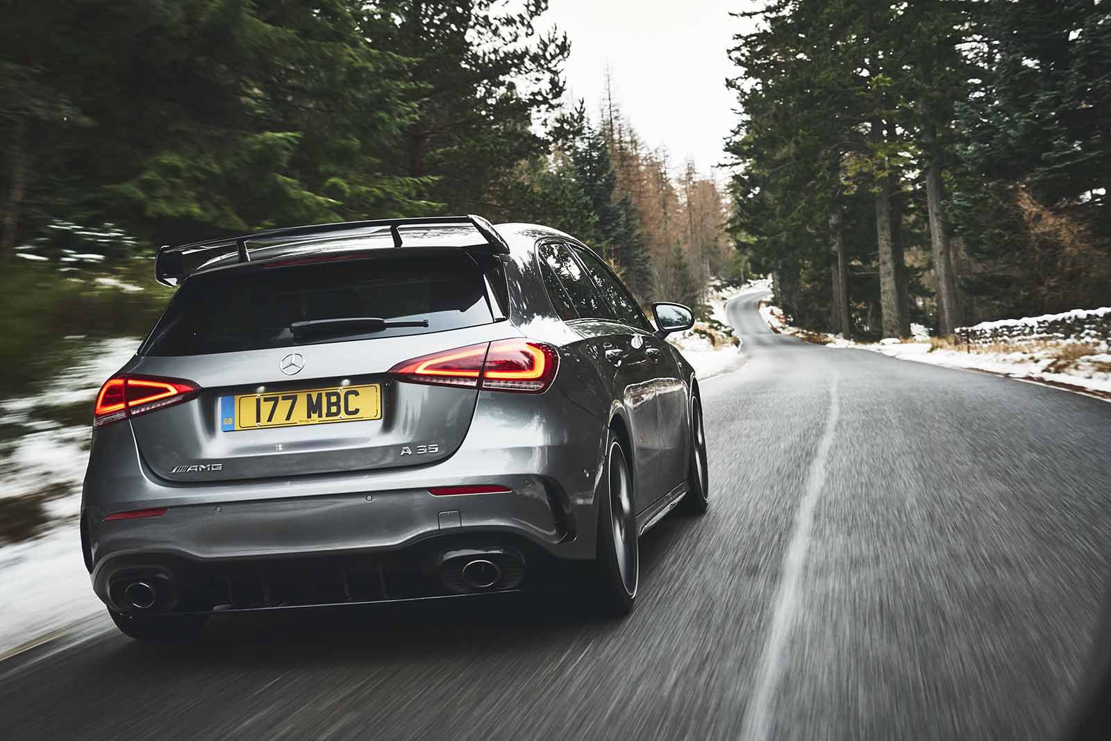 Mercedes-AMG A35 2019 rear tracking shot