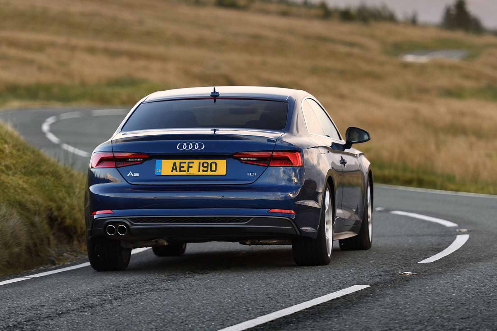 Audi A5 2019 rear right cornering shot