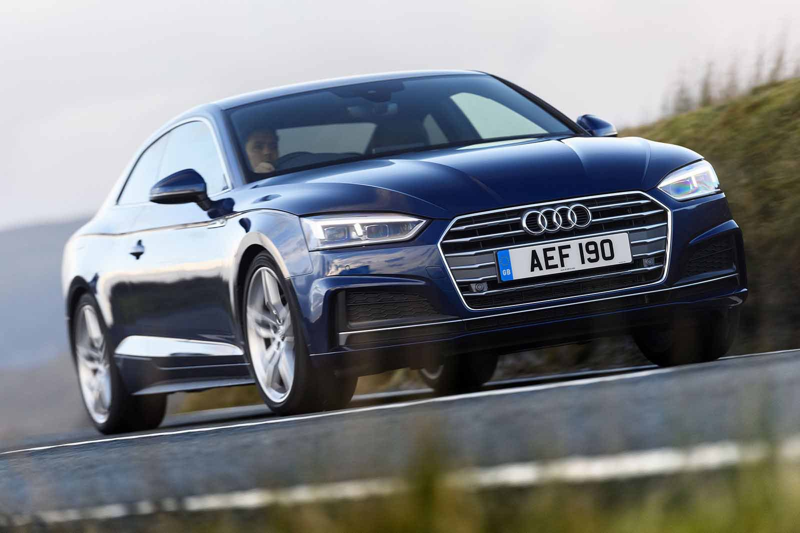 Audi A5 2019 Front right cornering shot