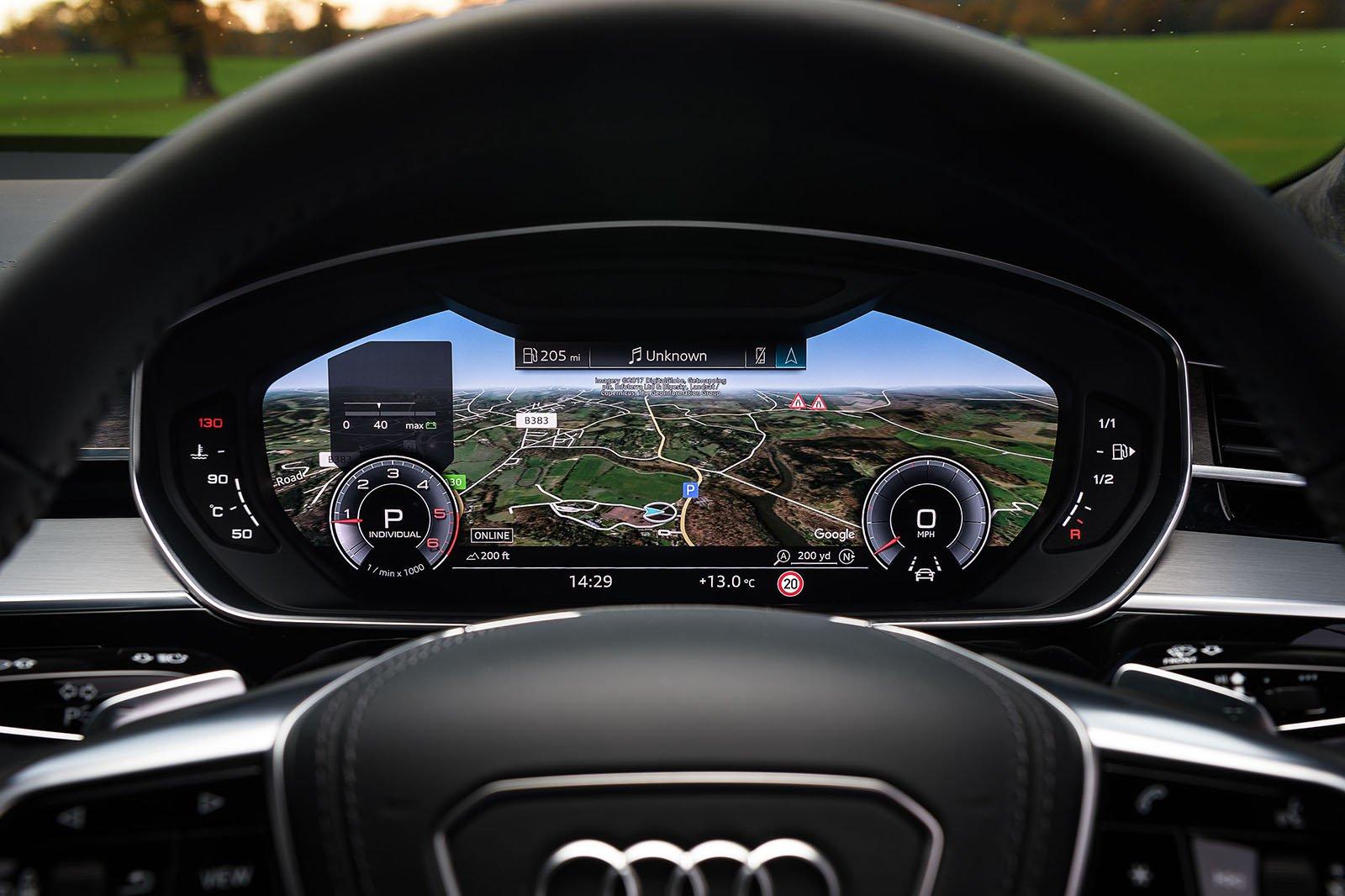 Audi A8 2019 instruments detail