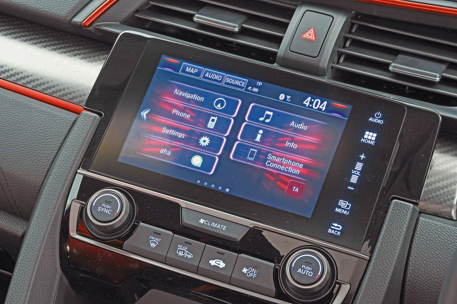 Honda Civic Type R 2018 infotainment
