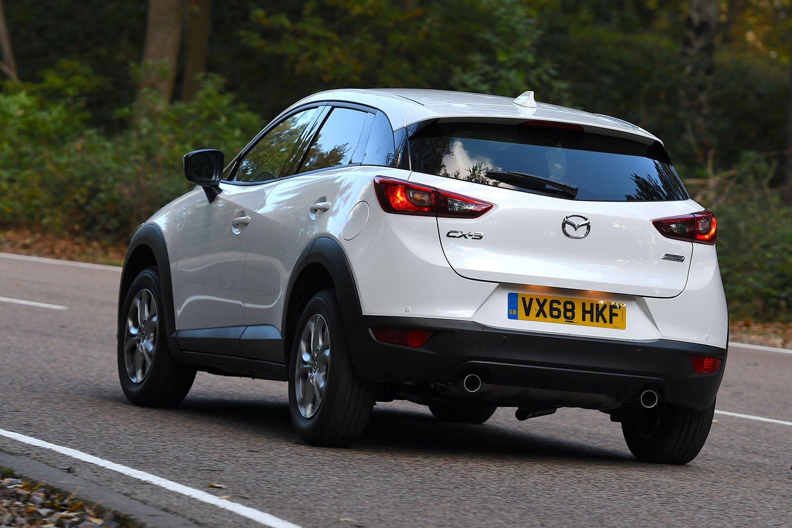 Mazda CX-3 rear driving