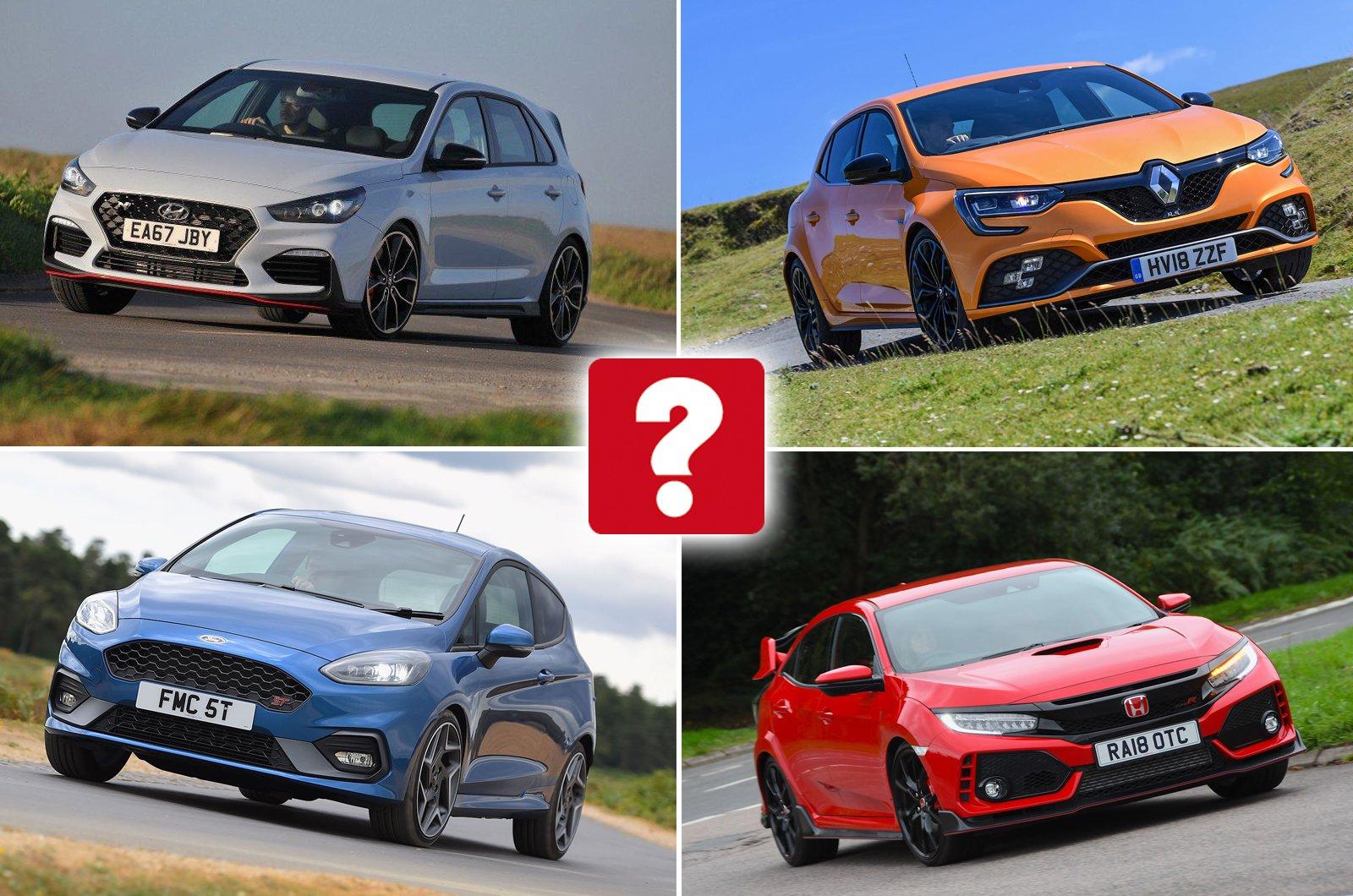 Hyundai i30N, Renault Megane RS, Ford Fiesta ST, Honda Civic Type R
