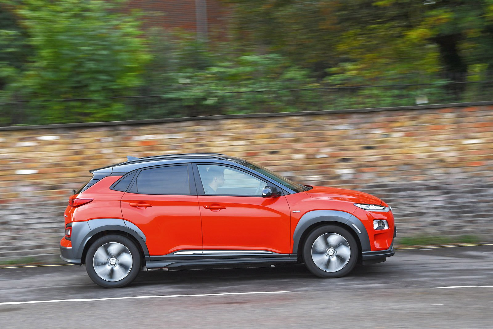 Hyundai Kona Electric driving