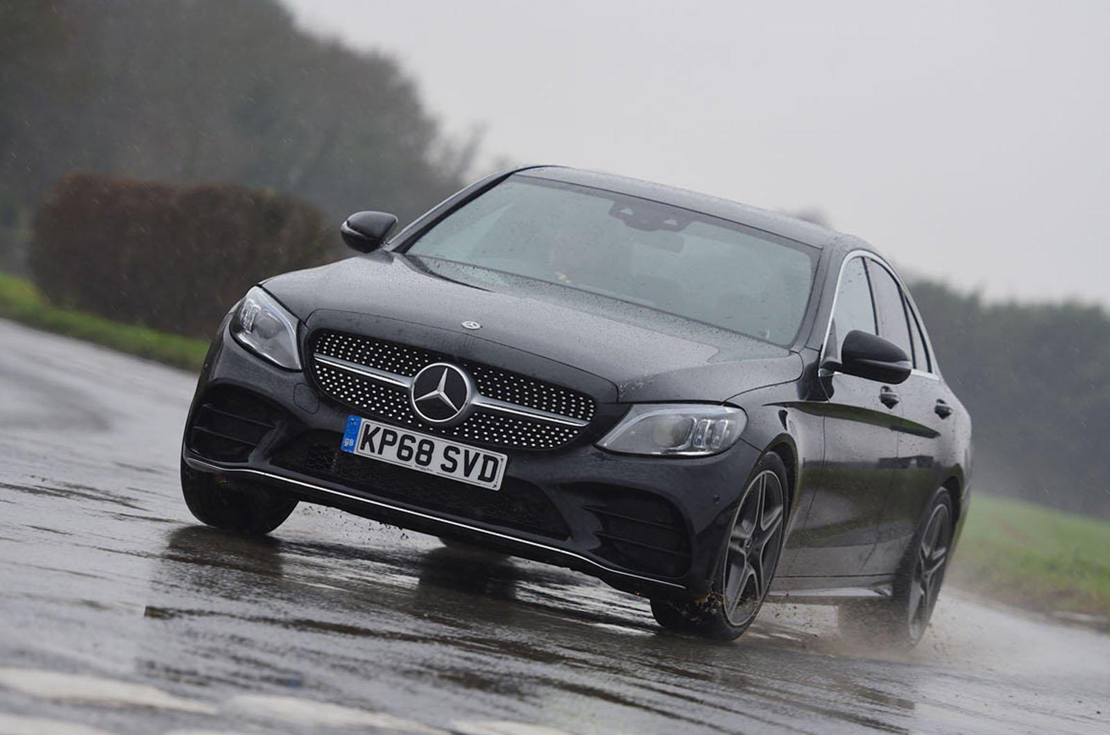 Mercedes C-Class driving