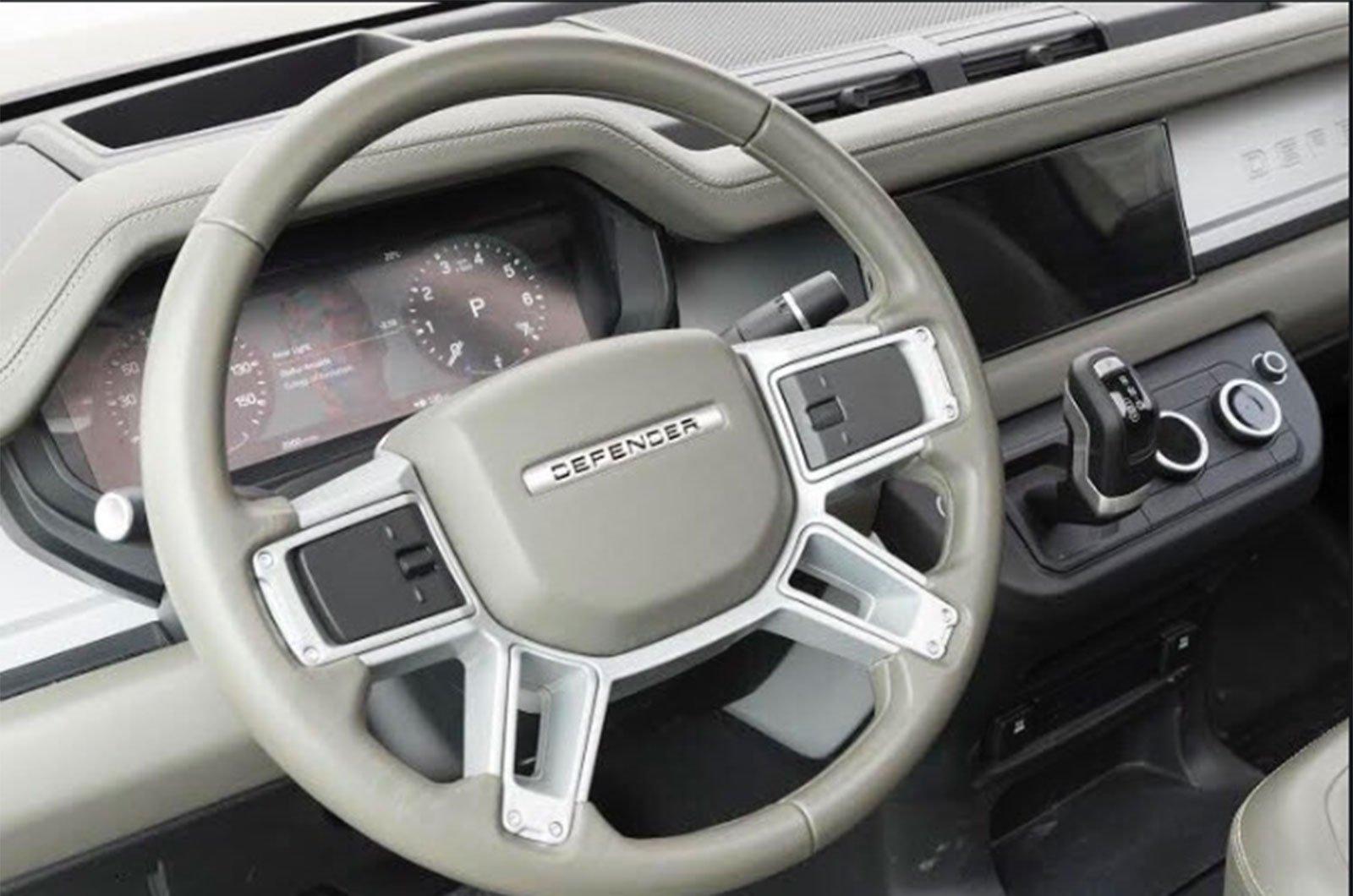 2020 Land Rover Defender leaked interior image