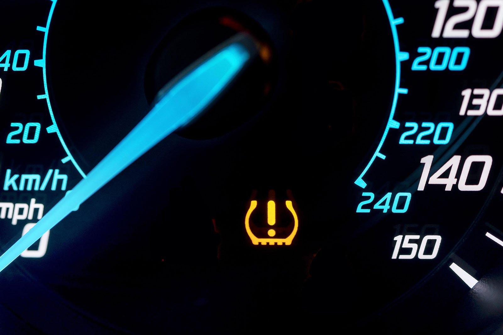 Tyre pressure warning light