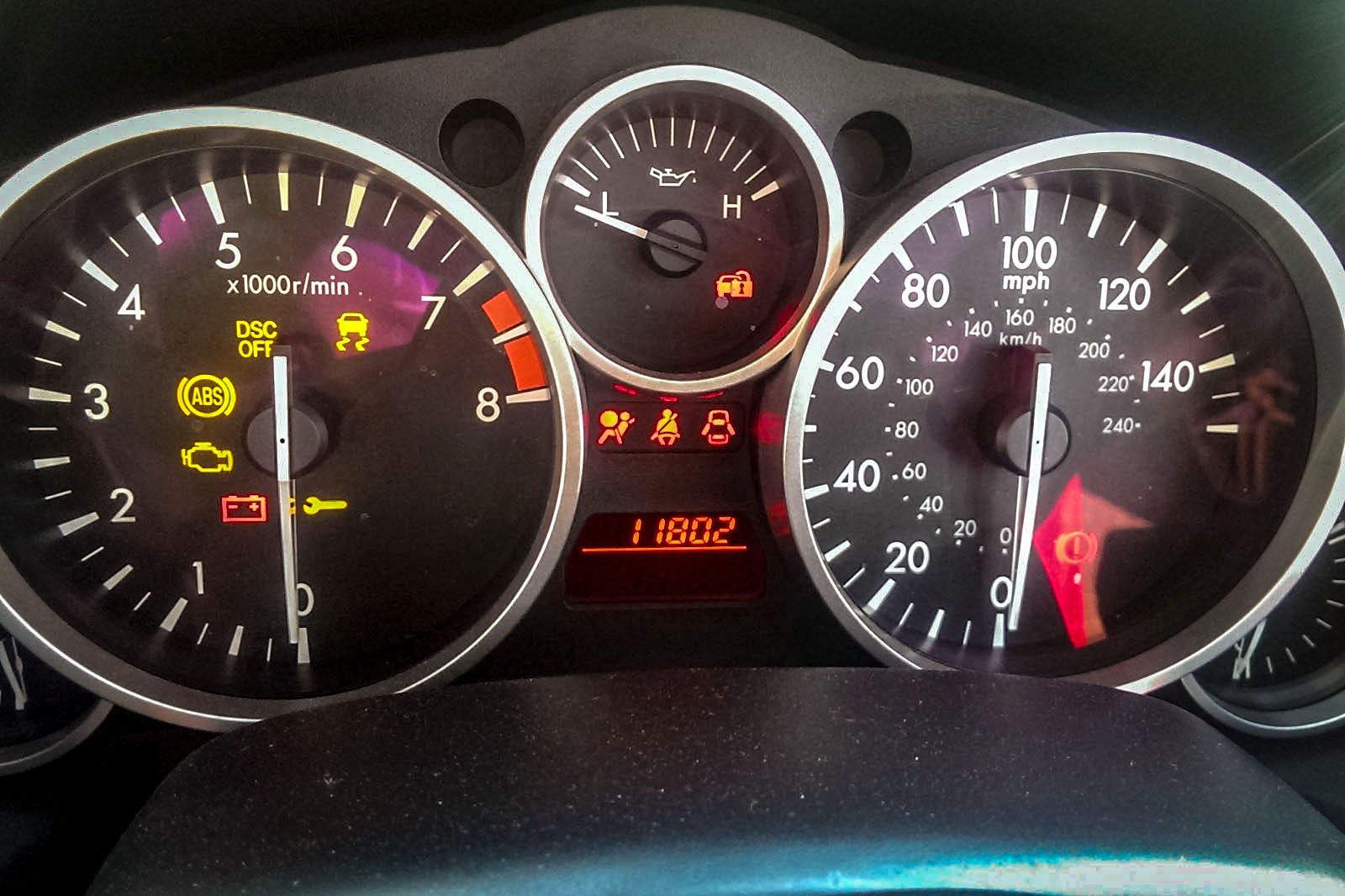 Engine warning light