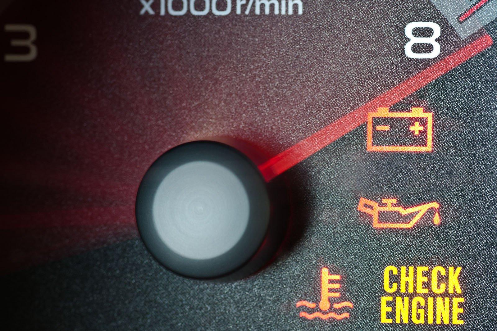 Oil warning light