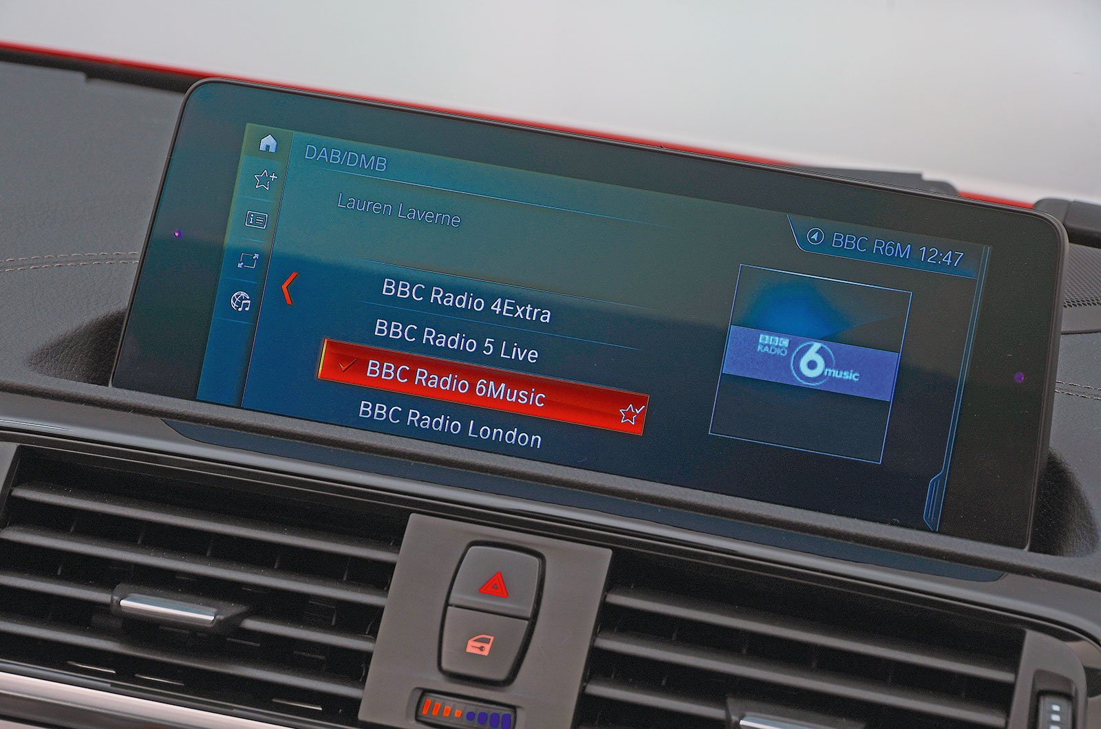 BMW 1 Series infotainment screen