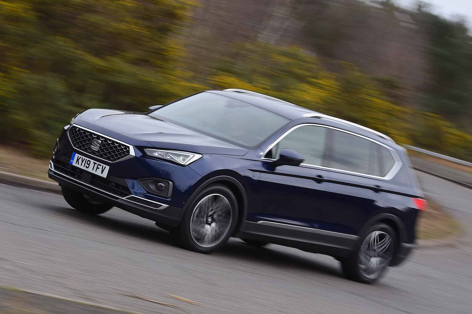Seat Tarraco 2019 front left tracking shot